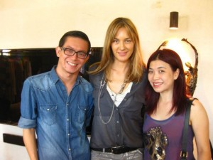 Citta Bella's Shawn and Female Malaysia's Zoe with Zadig & Voltaire Creative Director Cecilia Bonstrom